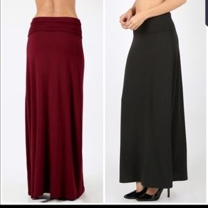 ON THE WAY!  Black maxi skirt S-3X